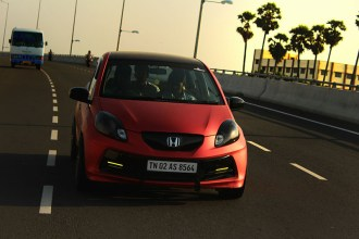 Matte red chrome Honda Brio