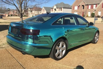 Tiffany Blue Chrome Audi A6 Wrap