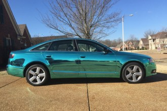 Tiffany Blue Chrome Audi A6 Wrap