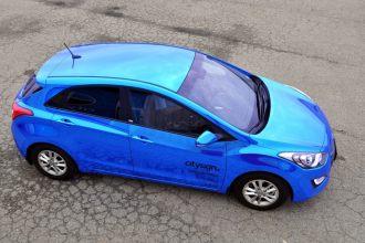 Blue Chrome Elantra Wrap