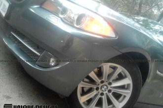 Gloss Metallic Grey BMW 5 Series wrap