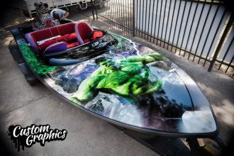 The Hulk Boat Wrap