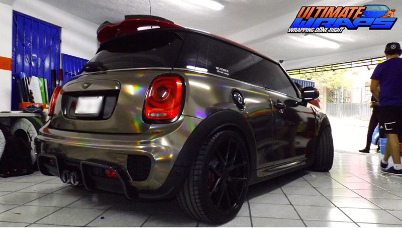 Black Holographic Chrome Wrap