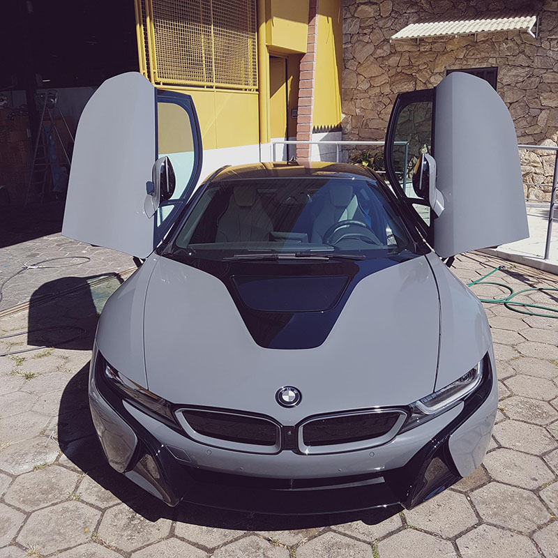 BMW I8 Pink >> Black and Gray BMW i8 Wrap | Wrapfolio