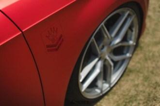 Frozen Red Chrome Audi A3 wrap