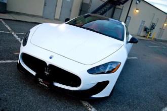 Satin White Maserati Wrap