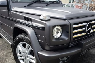 Matte Metallic Charcoal G Wagon Wrap