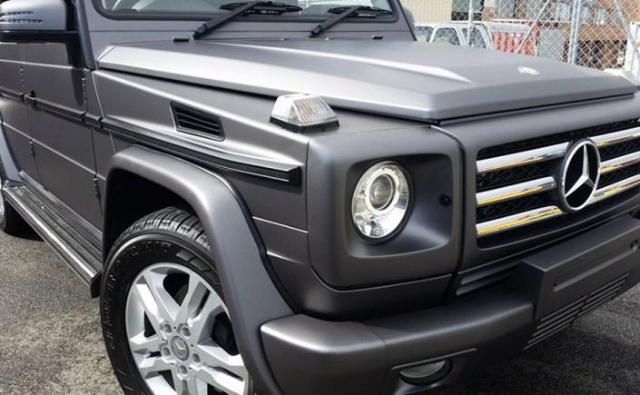 Matte Metallic Charcoal G Wagon Wrap