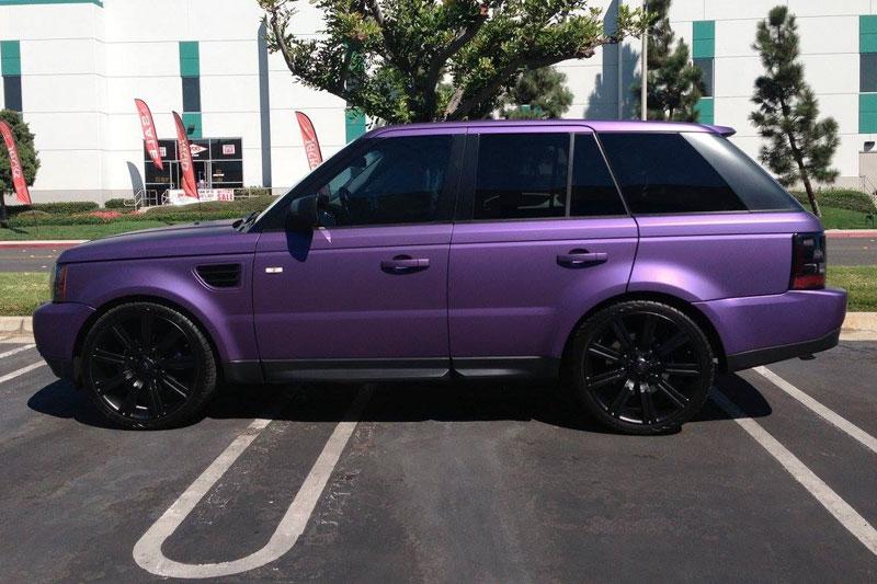 Matte Range Rover >> Matte Purple Metallic Range Rover Wrap Wrapfolio