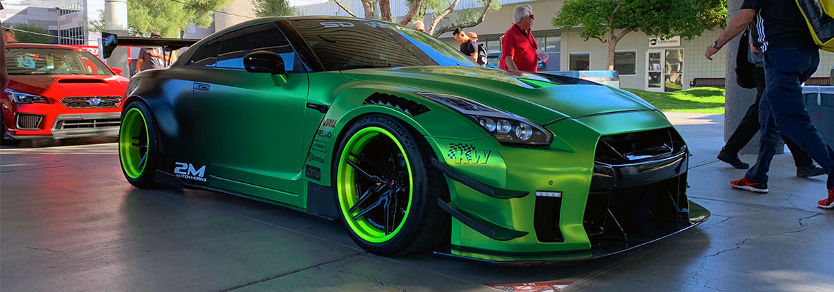 Satin Green Chrome GTR by SD Wrap
