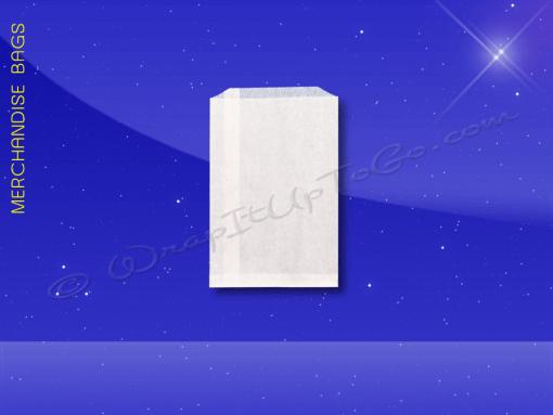 Merchandise-Bags—Bleached—3×5-Paper-Bag