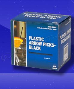 RP148BK – Black Plastic Arrow Picks 1