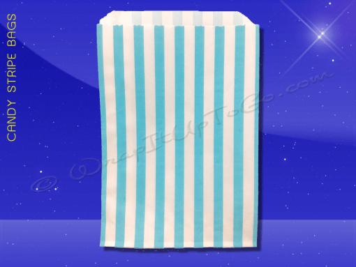 Candy Stripe Bags 5 x 7 – Aqua Stripes 1
