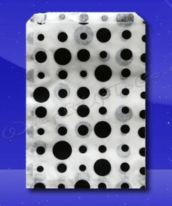 Candy Stripe Bags 5 x 7 – Black Dots 1