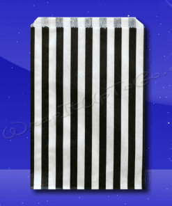 Candy Stripe Bags 10 x 14 – Black Stripes 1