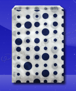 Candy Stripe Bags 5 x 7 – Blue Dots 1