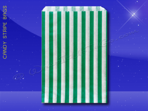 Candy Stripe Bags 10 x 14 – Green Stripes 1