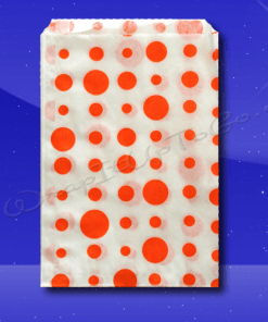 Candy Stripe Bags 10 x 14 – Orange Dots 1