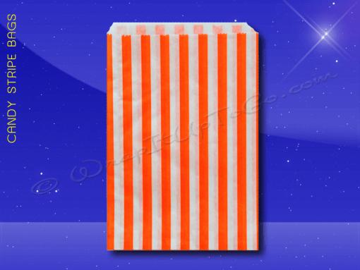 Candy Stripe Bags 10 x 14 – Orange Stripes 1