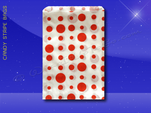 Candy Stripe Bags 10 x 14 – Red Dots 1