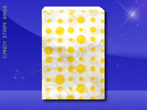 Candy Stripe Bags 5 x 7 – Yellow Dots 1