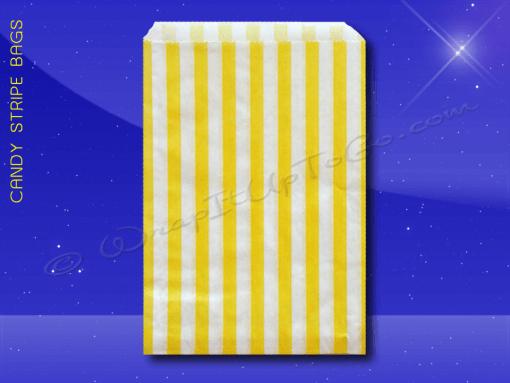 Candy Stripe Bags 7 x 9 – Yellow Stripes 1