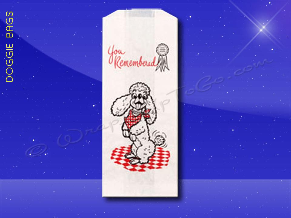 Duplex Doggie Bags – 5 x 3 x 12 – Poodle Design 1