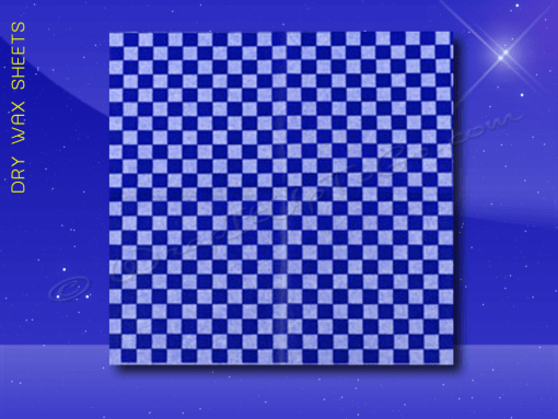 Dry Wax Sheets – 12 x 12 – Blue Checkerboard 1