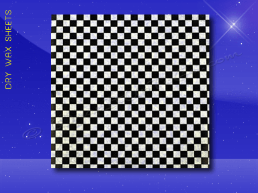 Dry Wax Sheets – 12 x 12 – Black Checkerboard 1