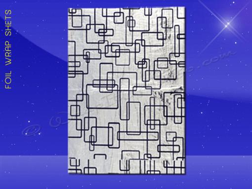 Foil Wrap Sheets – 10-1/2 x 13 – Blue Pattern 1