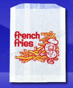 French Fry Bags – 5-1/2 x 1 x 8 – Printed French Fries 1