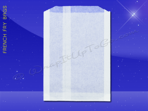 French Fry Bags – 5-1/2 x 1 x 8 – Plain 1