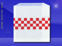 Grease Resistant Sandwich Bags – 6 x 3/4 x 6-1/2 – Red Checkerboard 1
