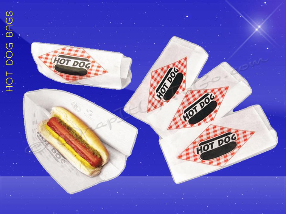 Hot Dog Bags – Double Opening – 3-1/2 x 2-1/4 x 8-1/4 – Plain 2