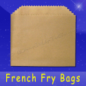 Fischer Paper Products 602-NK French Fry Bags 4-1/2 x 3-1/2 TruKraft (brown)
