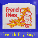 Fischer Paper Products 603 French Fry Bags 4-7/8 x 4 Printed French Fries