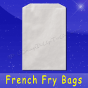 Fischer Paper Products 608 French Fry Bags 5-1/2 x 1 x 8 Plain