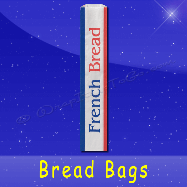 Fischer Paper Products BB-35 Bread Bags 4-1/2 x 2-1/2 x 24 Printed French Bread