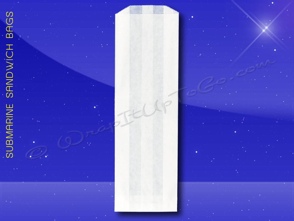 Fischer Paper Products 1050-PL Sub Sandwich Bags 4-1/2 x 2 x 14 Plain