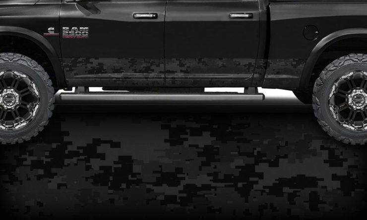 Black Digital Camo Rocker Panel Wrap