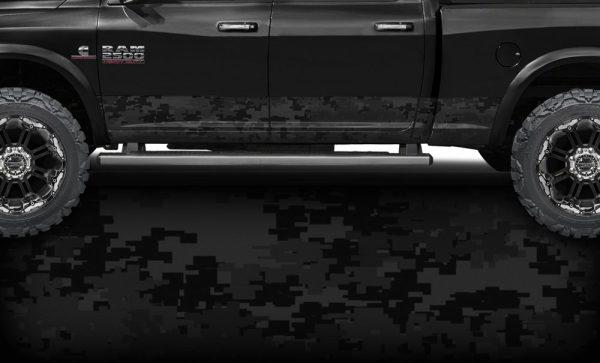 Black Digital Camo Rocker Panel Wrap