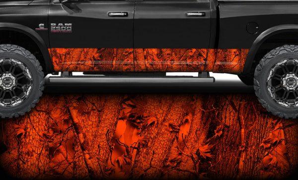 Blaze Camo Rocker Panel Wrap