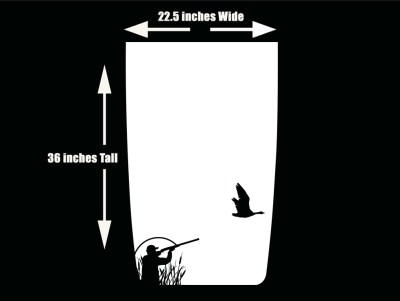Duck Hunting 1 Jeep Hood Blackout Die Cut Decal White