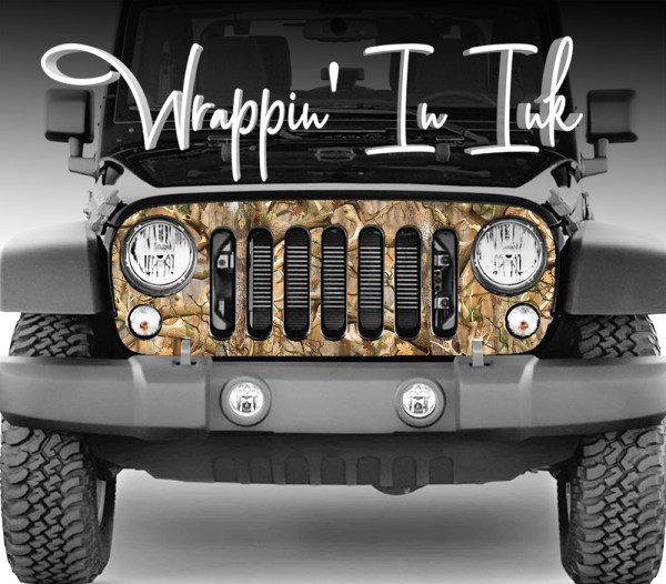Jeep Wrangler Grill Camo Decal. Obliteration Camouflage Decal