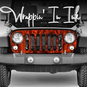Jeep Wrangler Camo Grill Wrap