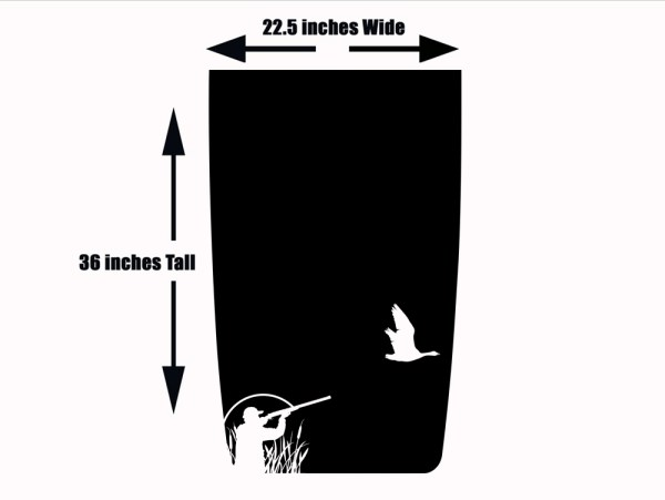 Jeep Wranger Duck Hunting Hood Wrap Decal