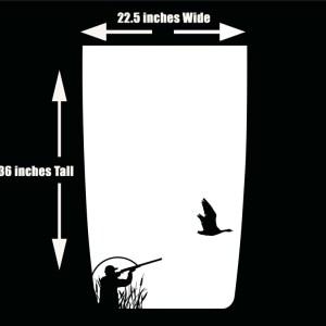 Die Cut Jeep Wranger Hood Decal Duck Hunter