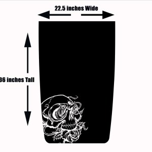 Skull Roses Jeep Wrangler Hood Blackout Decal