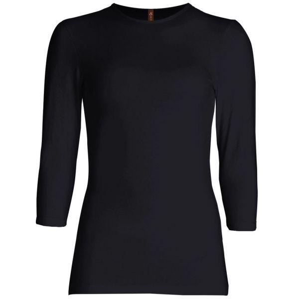 Three Quarter Sleeve Layering Top (Black) – Wrapunzel