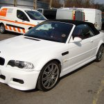 M3 Convertible Wrapped In Gloss White Wrapvehicles Co Uk Manchester Car Wrapping Company